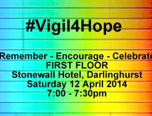 Remember * Encourage * Celebrate – A Vigil this Saturday #Vigil4Hope