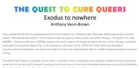 The Quest to Caure Queers