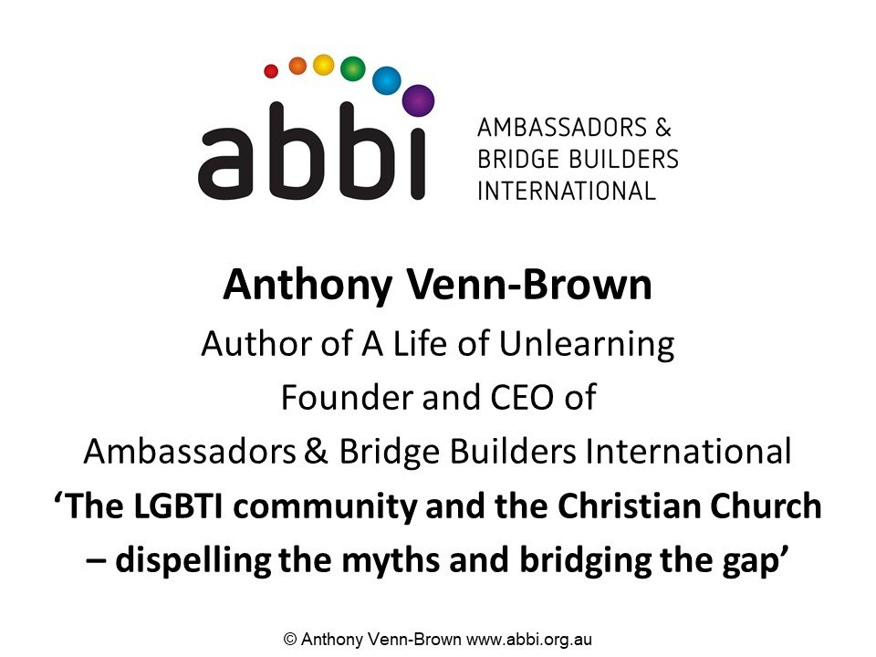 The LGBTI community and the Christian Church – dispelling the myths and bridging the gap