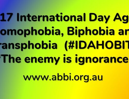 International Day Against Homophobia,  Biphobia and Transphobia  (#IDAHOBIT)