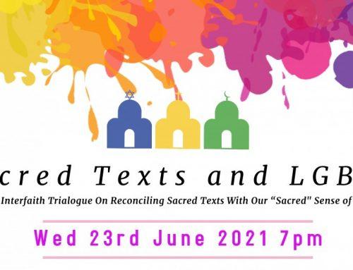 Sacred Texts and LGBTQ – an interfaith trialogue